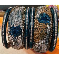 Blue Lakh Bangles