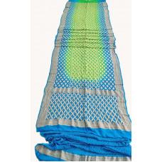 Pure Georgette Heavy Banarasi Bandhani Saree