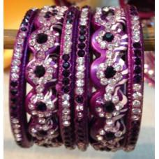 Purple Lakh Bangles