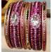 Golden & Pink Lakh Bangles