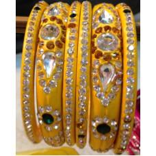 Yellow Lakh Bangles
