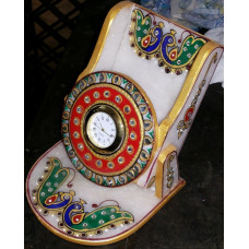 Hand Crafted Mobile Holder With Clock