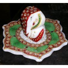 Hand Crafted Lord Ganesha On Leaf