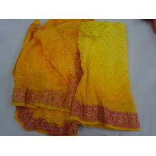 Gadwal Silk  Bandhani Saree