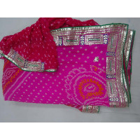 Pure Georgette Bandhani Saree