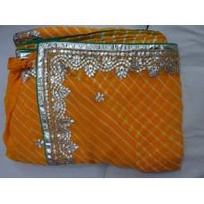 Pure Georgette Lehariya Saree