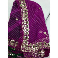 Pure Georgette Mothra & Lehariya Saree