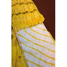 Lehariya And Bandhani Dress-Material
